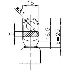Sprężyna gazowa (21376 FA Krosno) siła 280N długość 256mm skok 86mm