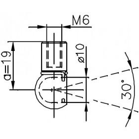 Sprężyna gazowa (FA Krosno 23923) ALFA ROMEO 155 (167) klapy bagażnika - sedan 01/92-12/97