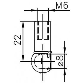 Sprężyna gazowa (FA Krosno 24121) ALFA ROMEO 155 (167) maski silnika - sedan 01/92-12/97