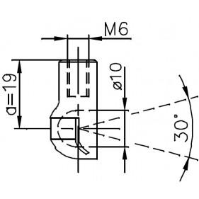 Sprężyna gazowa (FA Krosno 23187) ALFA ROMEO 156 (932) klapy bagażnika - sedan 09/97-09/05