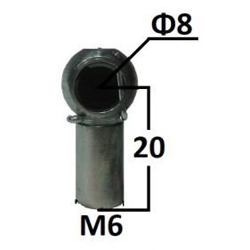 Gniazdo kulowe otwór o średnicy 8mm gwint M6...
