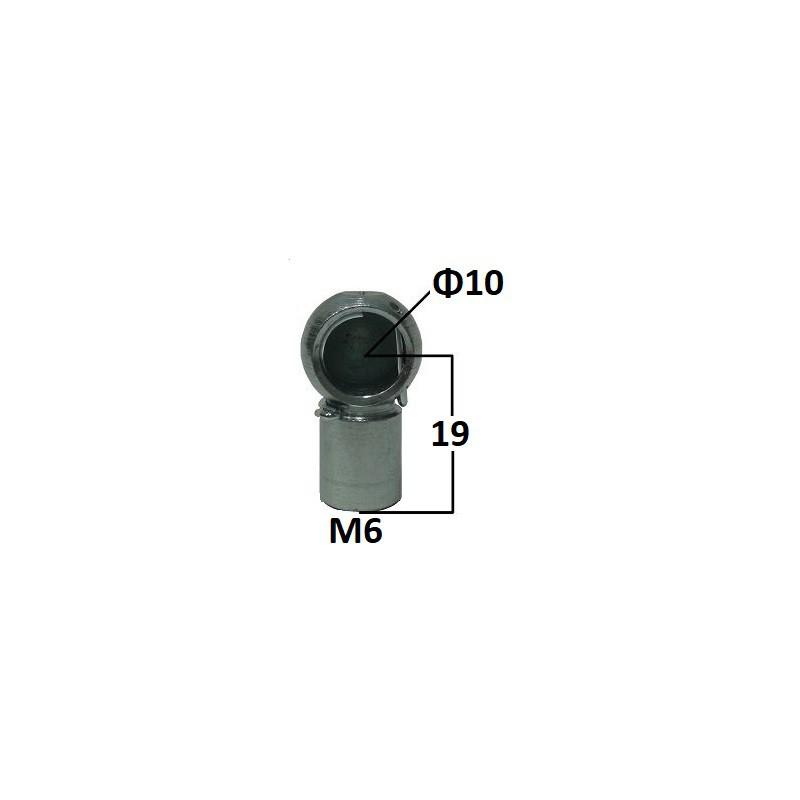 Gniazdo kulowe otwór o średnicy 10mm gwint M6 długość 19mm