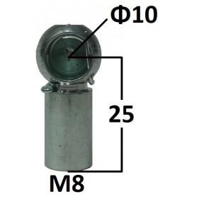 Gniazdo kulowe otwór o średnicy 10mm gwint M8...