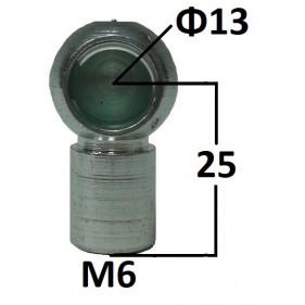 Gniazdo kulowe otwór o średnicy 13mm gwint M6...