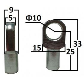 Przegub oczkowy otwór o średnicy 10mm gwint M6...