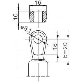 Sprężyna gazowa (FA Krosno 21475) DEUTZ-FAHR DX 3.10 - 3.70 kabina Vario Cab tylna szyba