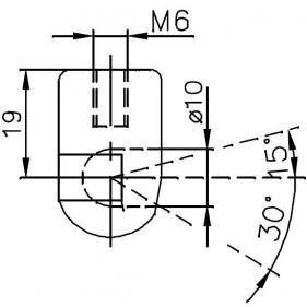 Sprężyna gazowa (FA Krosno 23065) MASSEY FERGUSON 600,80 Series:675,690,698,698T,699,6880,VM,7880 VM,8880,8880 HC,8880 VM,9080