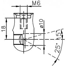 Sprężyna gazowa (FA Krosno 32270) SAME Series Antares,II,Laser,Laser3,RowCrop,.6,Silver,SuperTitan,Titan,Formula,135,Premium,R